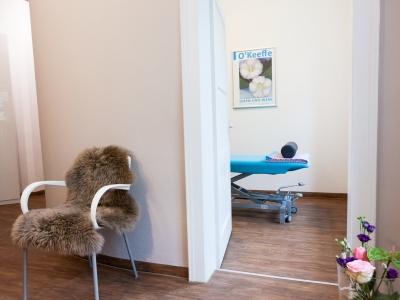 Behandlungszimmer Praxis für Osteopathie und Physiotherapie Schötz - München
